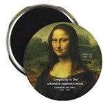 "Mona Lisa: Da Vinci Quote 2.25"" Magnet (100 pack)"