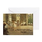 Degas Dancers Quote Greeting Cards (Pk of 10)