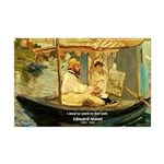 French Painter Manet Quote Mini Poster Print