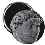 David with Michelangelo Quote Magnet