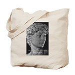 David with Michelangelo Quote Tote Bag