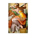 Words on Genius Michelangelo Mini Poster Print