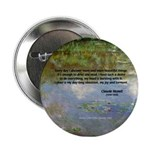 Monet Painting: Beauty Quote Button