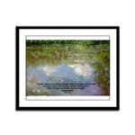 Monet Painting: Beauty Quote Framed Panel Print