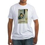 Female Artist Morisot Quote Fitted T-Shirt