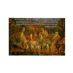 Artist Pissarro: How to Paint Rectangle Magnet (10