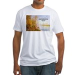 Alfred Sisley Nature Quote Fitted T-Shirt