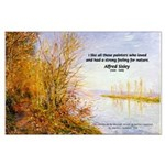 Alfred Sisley Nature Quote Large Poster