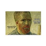 Vincent Van Gogh Quote Rectangle Magnet (10 pack)