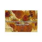 Van Gogh Painting & Quote Rectangle Magnet (10 pac