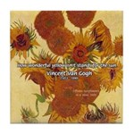 Van Gogh Painting & Quote Tile Coaster