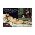 Freud Erotic Quote and Titian Mini Poster Print
