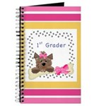 Pink First Grader Notebooks Journal
